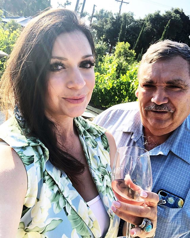 I realize I never posted a Father's Day photo, probably because my dad and I were having the best conversations about travel and people of the world, at a lovely winery in Ojai... but now he's in Mexico with a group of tourists, taking them all over the place and showing them the beauty of his native country and my sisters @irene__marquez & @frenchee__ are there too and  i miss him and I'm getting major FOMO. 😭 Love you papi, keep doing what makes your heart happy ❤️👏 #LatePost #nostalgic #mydad #EsUnBuenTipoMiViejo #loveyoudad