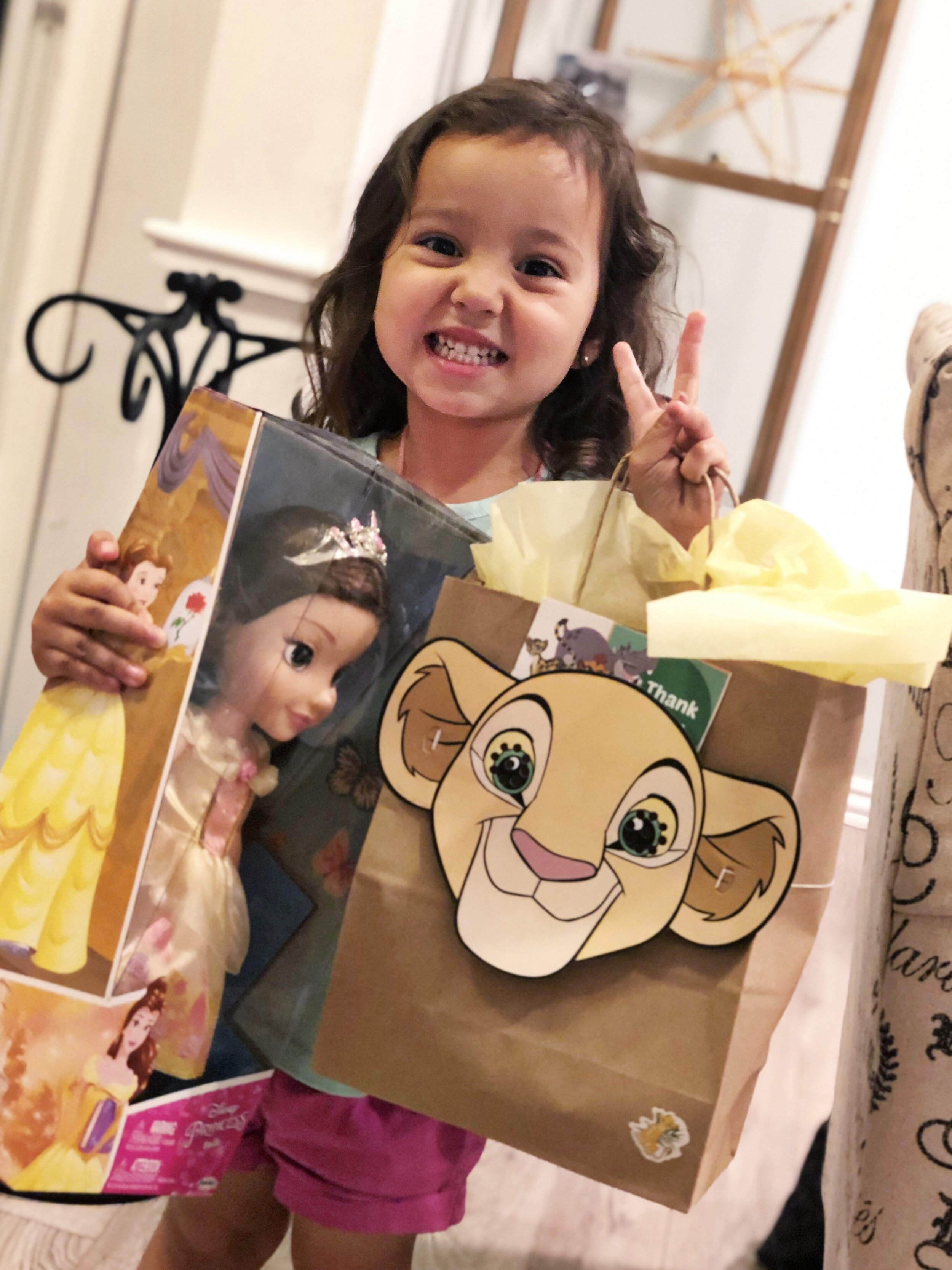 My little niece Elisa was the lucky winner of a Disney Beauty & the Beast Belle Doll! Isn't she a cutie?