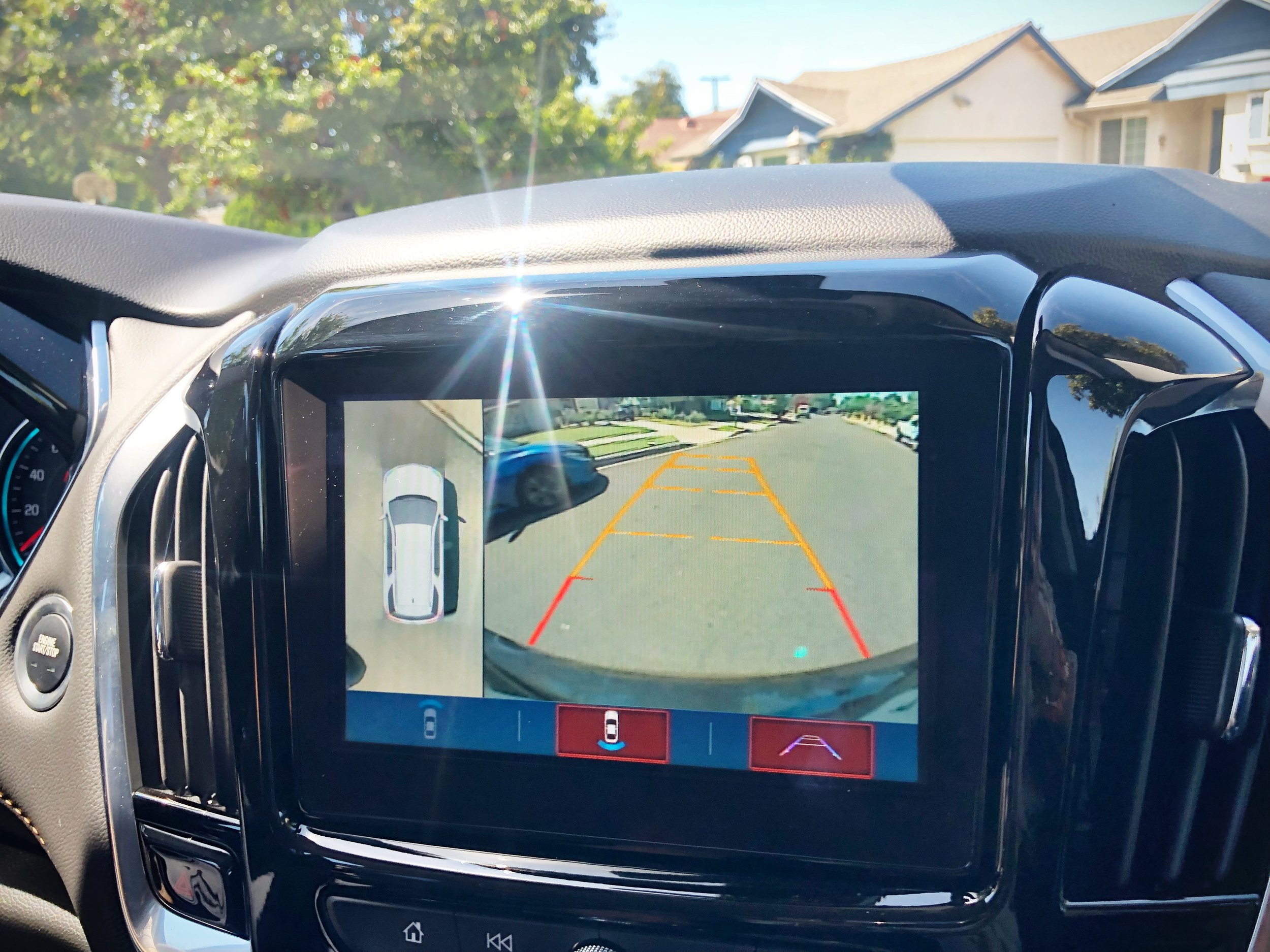 One of my favorite features of the Chevy Traverse is the rear camera!