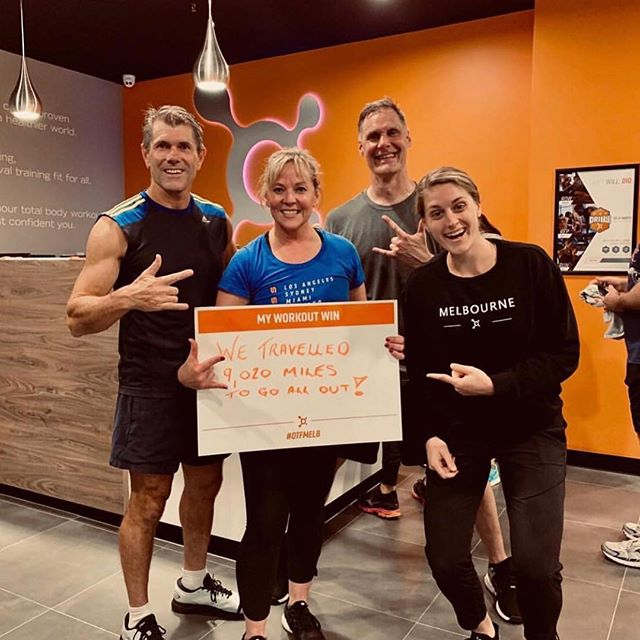 "#TrainerTipTuesday - ""If you are persistent you will get it. If you are consistent, you will keep it."" - Melissa lee - Regional Fitness . Shout out to Quentin and Cristina, members from OTF Moore in Oklahoma. Who traveled 9,020 miles to go All-Out with our Melbourne CBD Crew! Get it  @inspiration #otfcommunity #splatpoints #melbournecommunity #basepushallout #otfmelbournecommunity #heartratetraining"