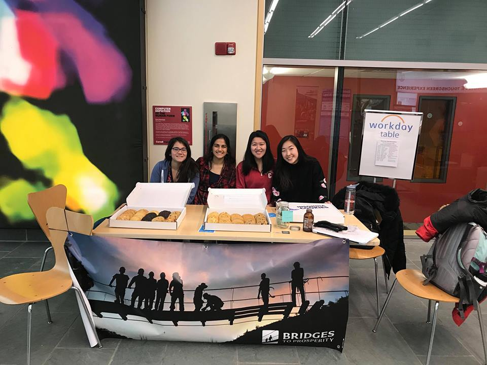 The Cornell University chapter raised awareness about their Swaziland bridge by handing out cookies  Facebook: @b2pcornelluniversity