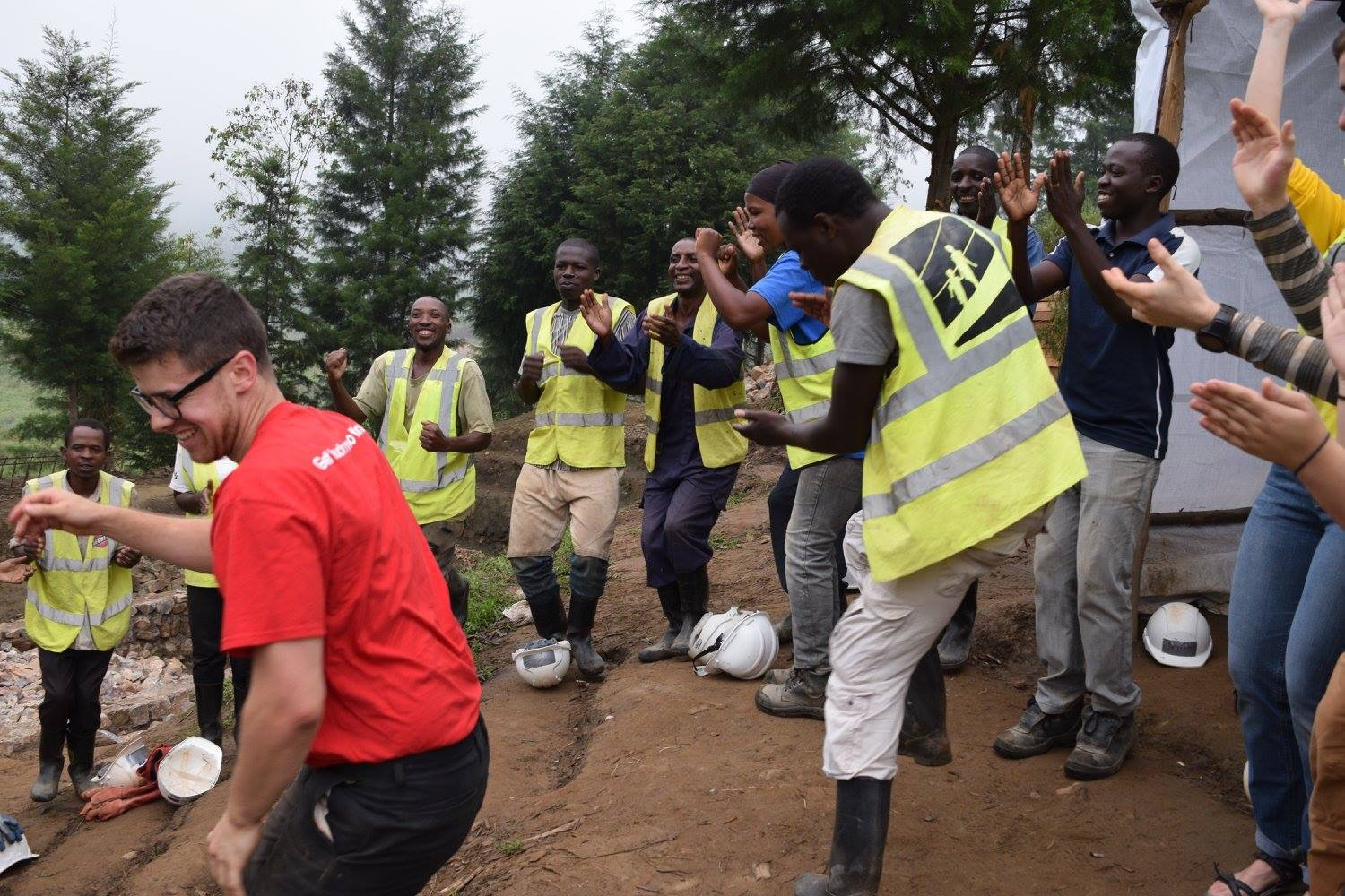 2017 Community Engagement: Ryan Gloeckner, Penn State   Morning safety meeting begins each day with a dance-off. Kumusenyi, Rwanda