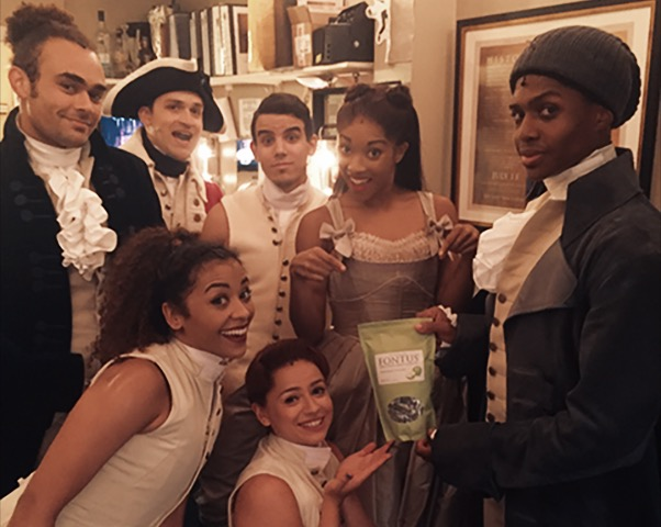 Fontus Lozenges are the official throat lozenge for the Broadway Production of Hamilton!