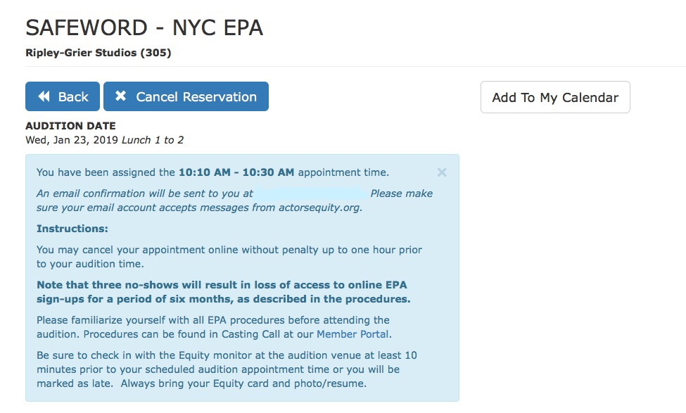 EPA Signup Confirmation