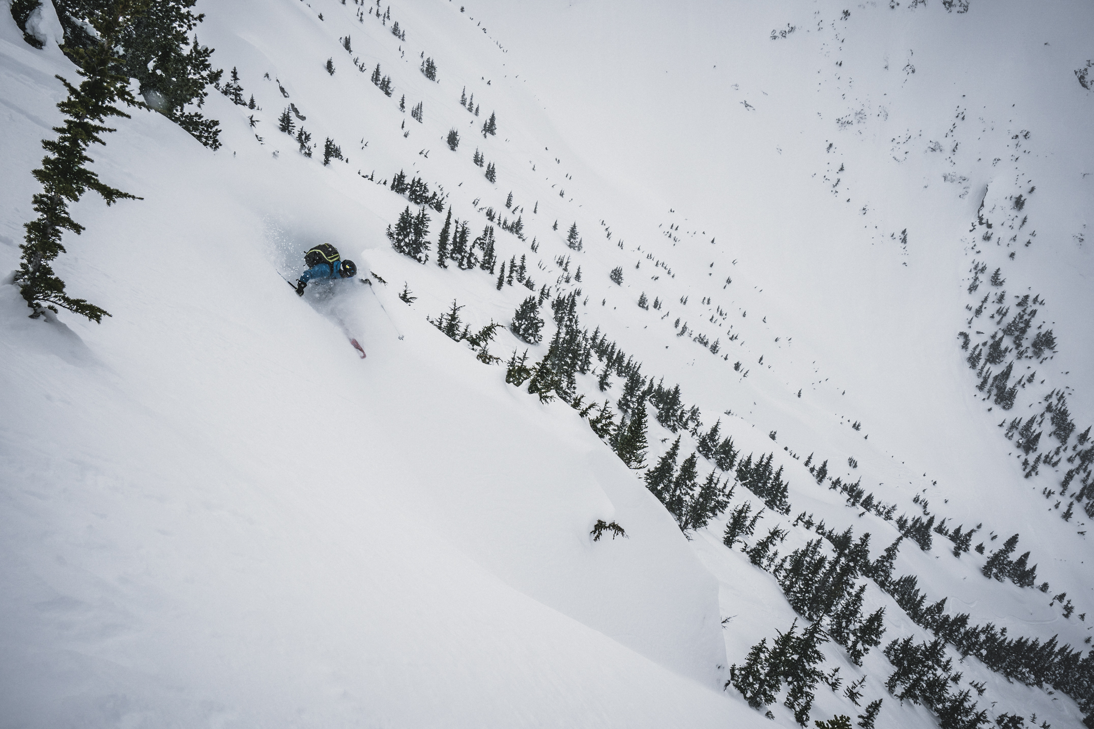 Good stability gave us a chance to explore the steeps on the North side of Tom George Peak.Photo credit: Louis Arevalo