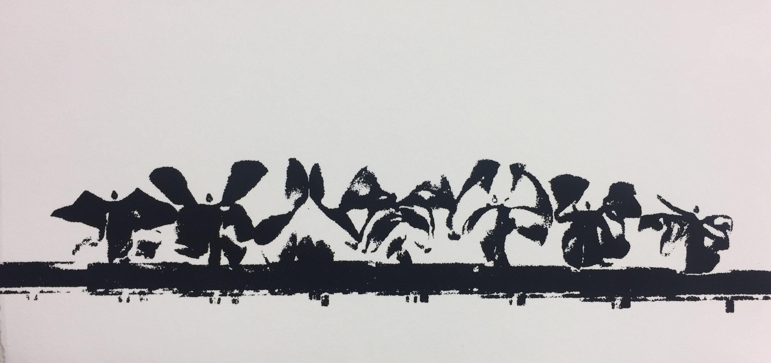 - Serpentine Variations III, serigraph