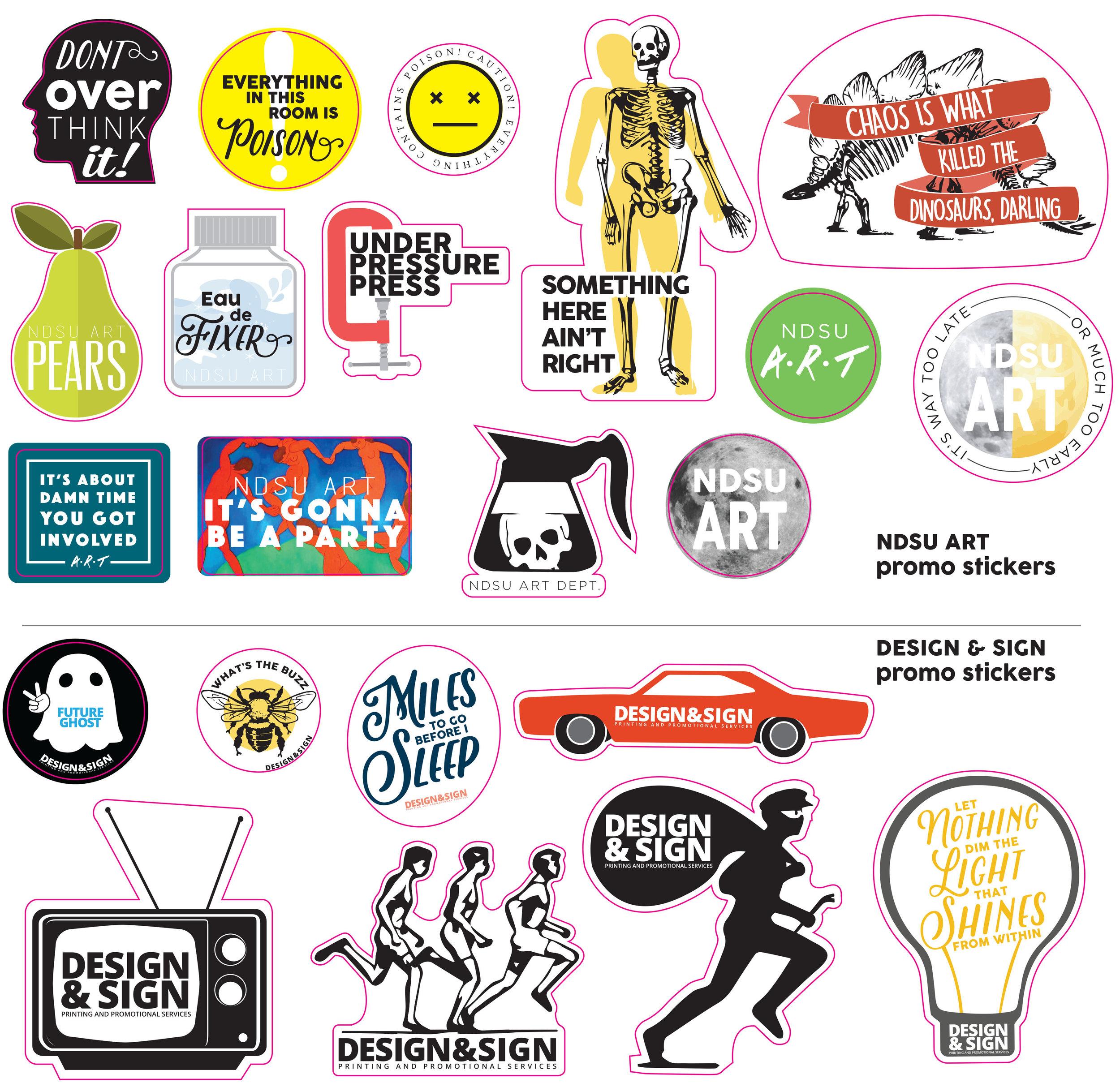 - Promotional stickers