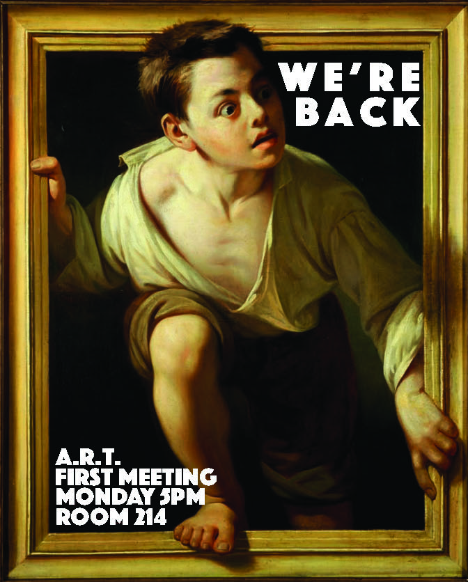 - Promotional poster for A.R.T. student group