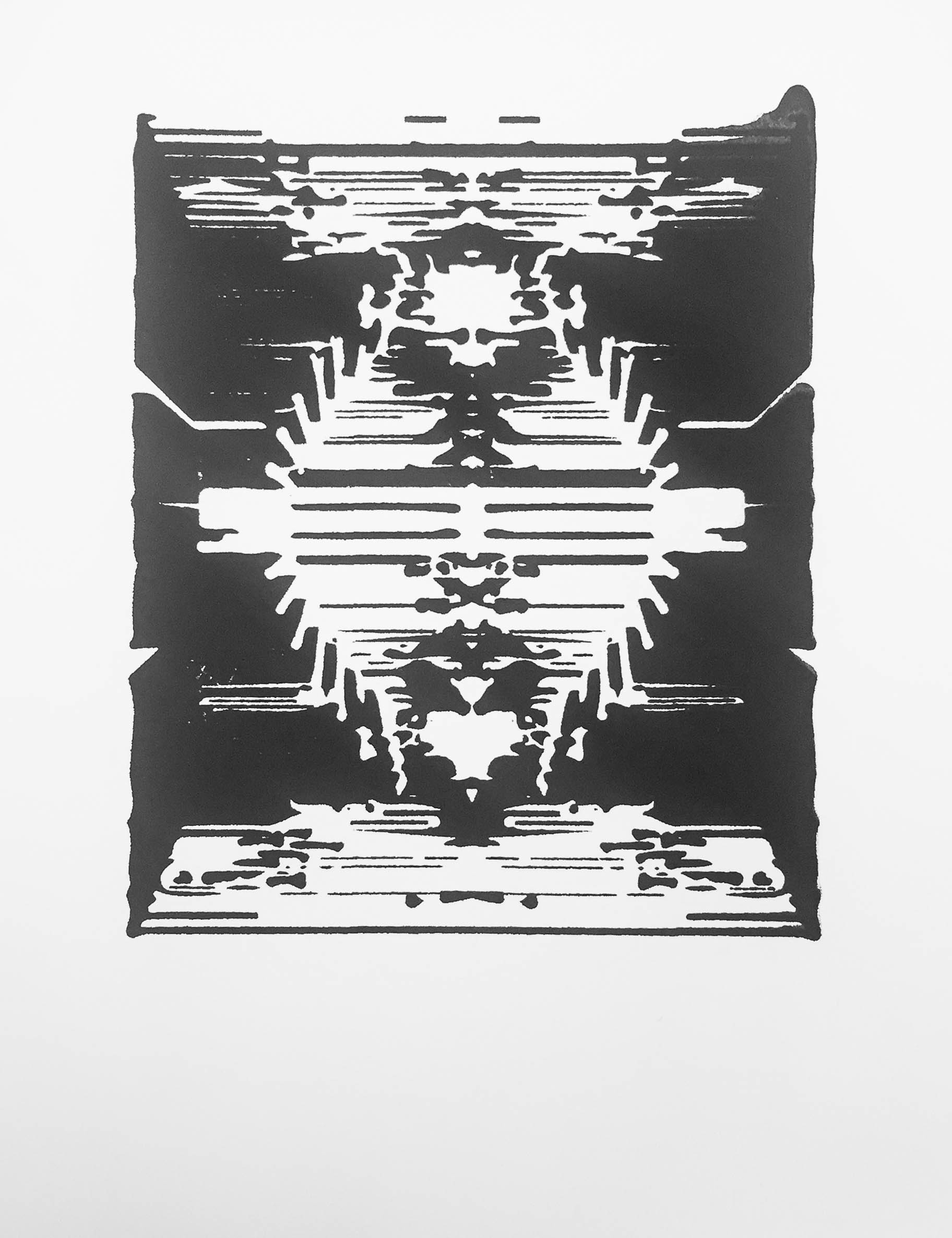 - Algorithm Inkblot III, serigraph