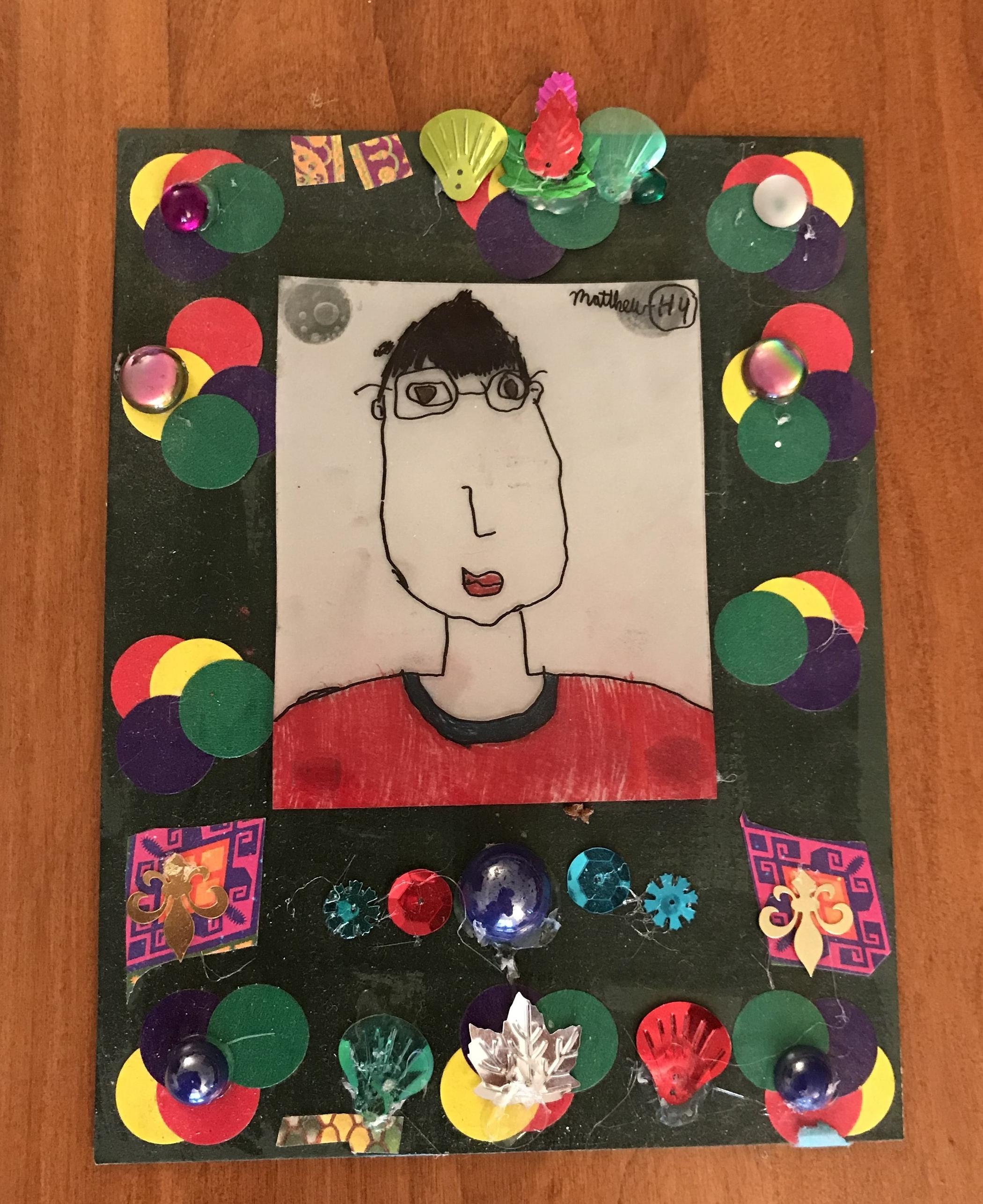 Self-portrait done in the 4th grade