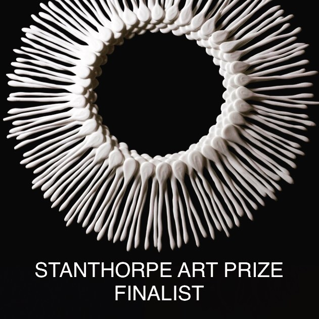 .. . Absolutely thrilled to be selected as a finalist in The Stanthorpe Art Prize 2018. . Finalists were selected from over 1600 entries from 719 Artists spanning Australia, New Zealand, Europe, Asia and The States. .⠀⠀⠀⠀⠀⠀⠀⠀⠀ 'Nebula' will be exhibited, consisting of 144 bone china components. .⠀⠀⠀⠀⠀⠀⠀⠀⠀ #bonechina #sculpture #design #fineart #commission #sculpturalceramics #organic #contemporaryceramics #jenniferconroysmithceramics #jenniferconroysculpturalceramics #wallart #melbourne #fineartshippingworldwide #stanthorpeartprize2018