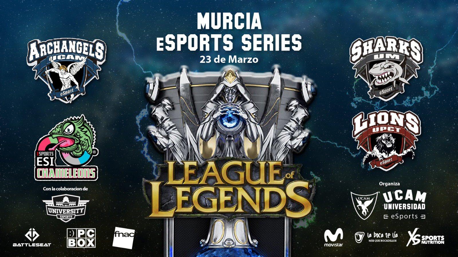 En la foto: Cartel promocional de la I Edición de la Murcia. Serie de deportes electrónicos realizados en Murcia el día sábado 23 de marzo de 2019.