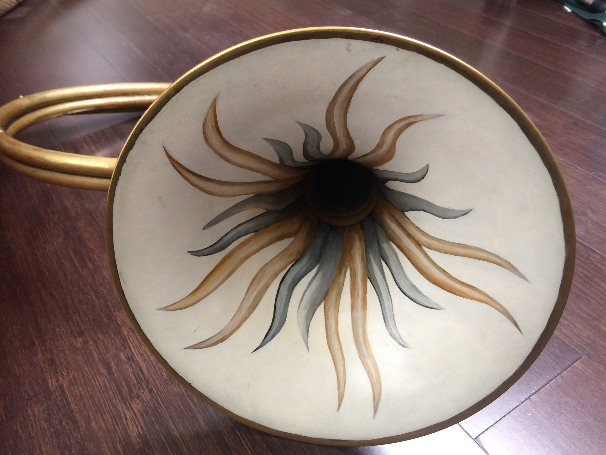Webb/Halstead  baroque horn - painted bell by Isabel Osselaere