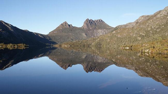 The iconic, Cradle Mountain.