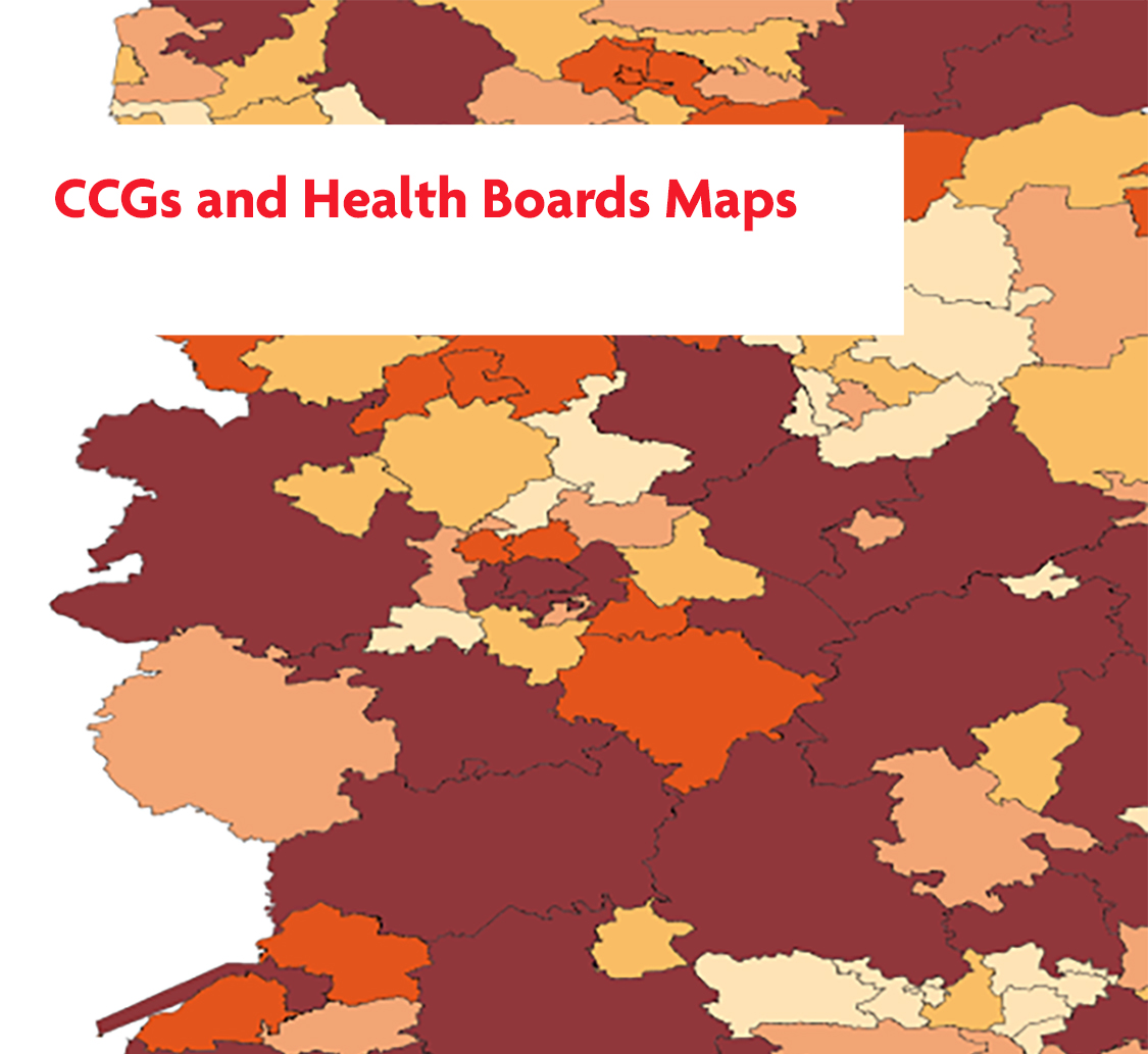 CCGs and Health Board Maps