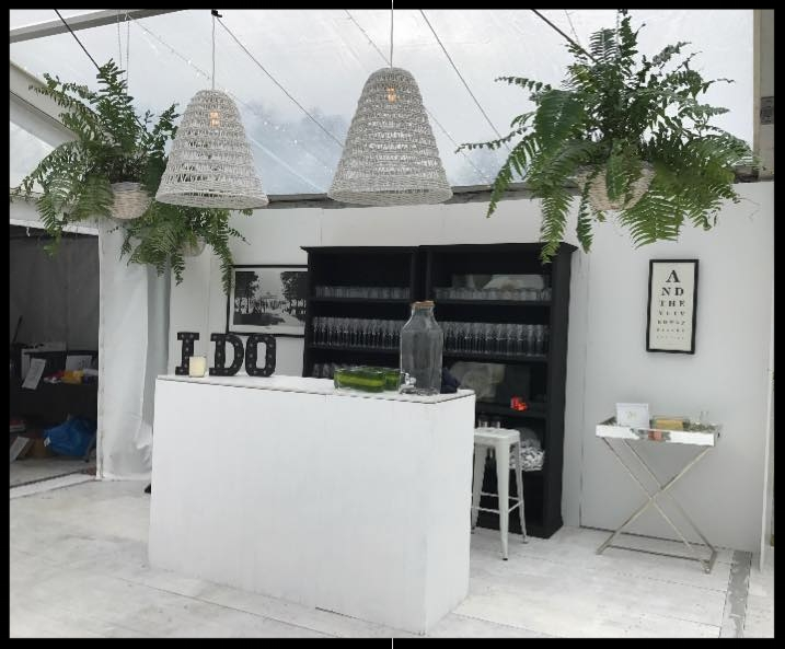 The Bar   Brisbane Events can create a bar to suit the style of your wedding. Our high bars can be customised with different materials to tie in with the rest of your theme. Please get in touch with us to discuss the possibilities!