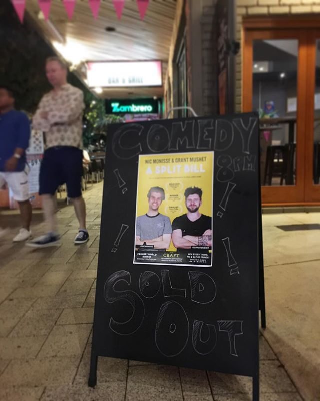 Capping off our last weekend of @fringeworldperth with two more sell outs! Thanks to everyone who has come out to see me and @grantmushet talk smack and tell jokes 🙌🏼