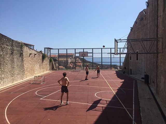 Summer League in Croatia. Basketball court inside old fort walls with ocean views made me a hot mess (physically and figuratively).
