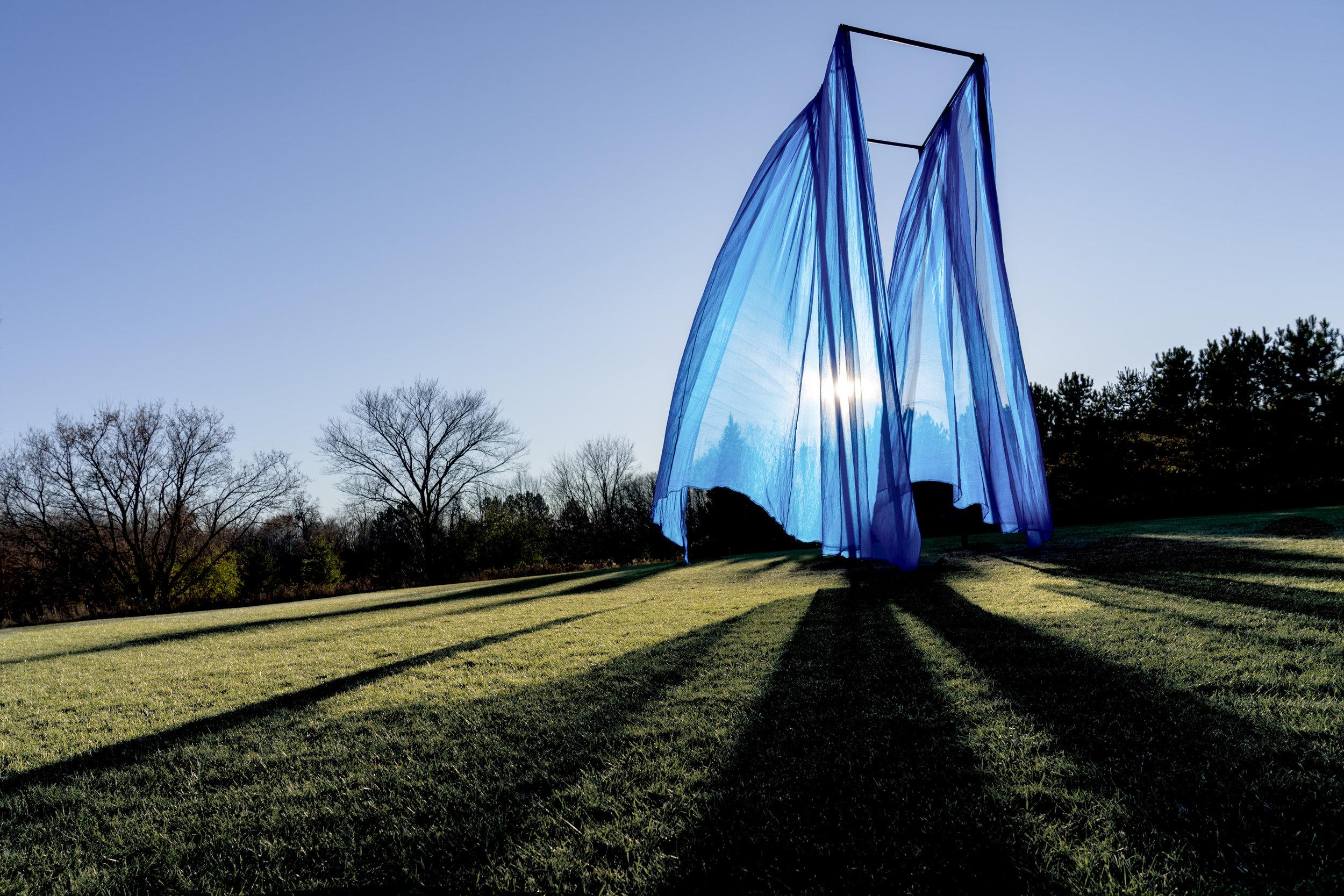 We Move Still by Jordan Rosenow and April Martin, Franconia Sculpture Park, Shafer MN
