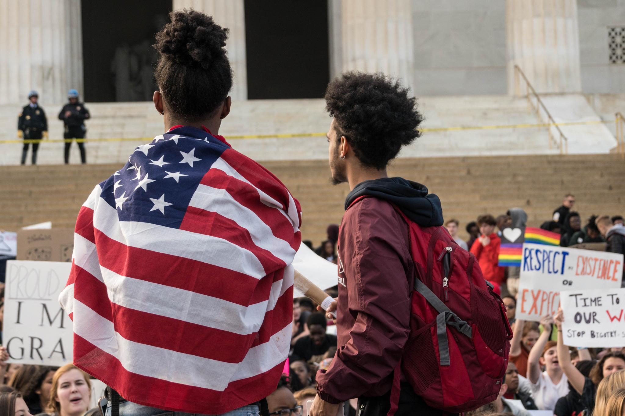 DCPS Walkout, Lincoln Memorial