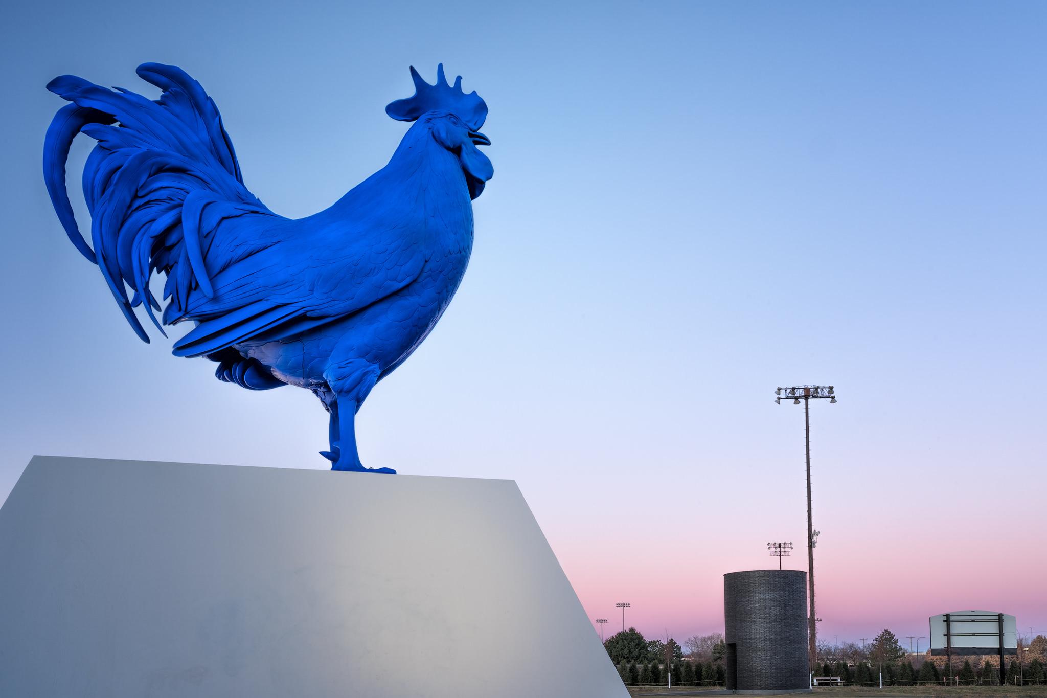 Hahn/Cock by Katharina Fritsch, Walker Art Center, Minneapolis MN