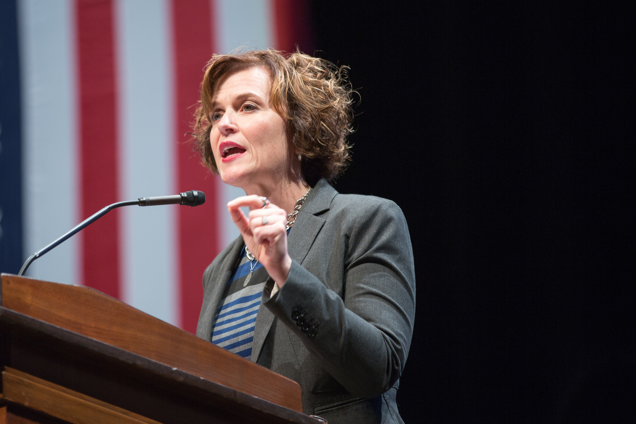 Betsy Hodges, speaking as Mayor of Minneapolis at a Clinton campaign event in Minneapolis, October 2016