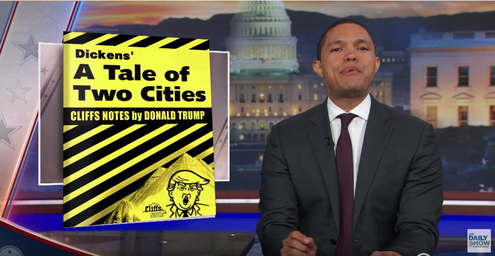 Trump icon on The Daily Show with Trevor Noah