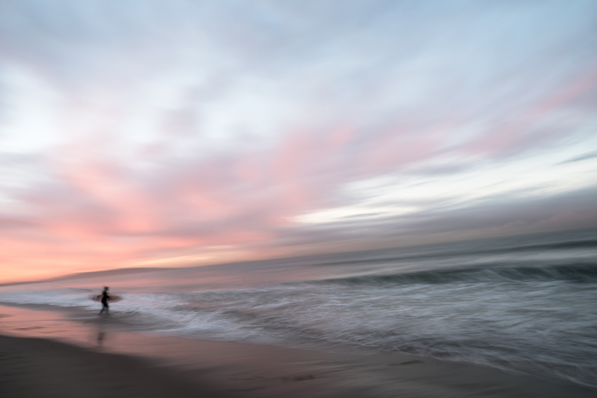 Sunrise surfer, Santa Monica California
