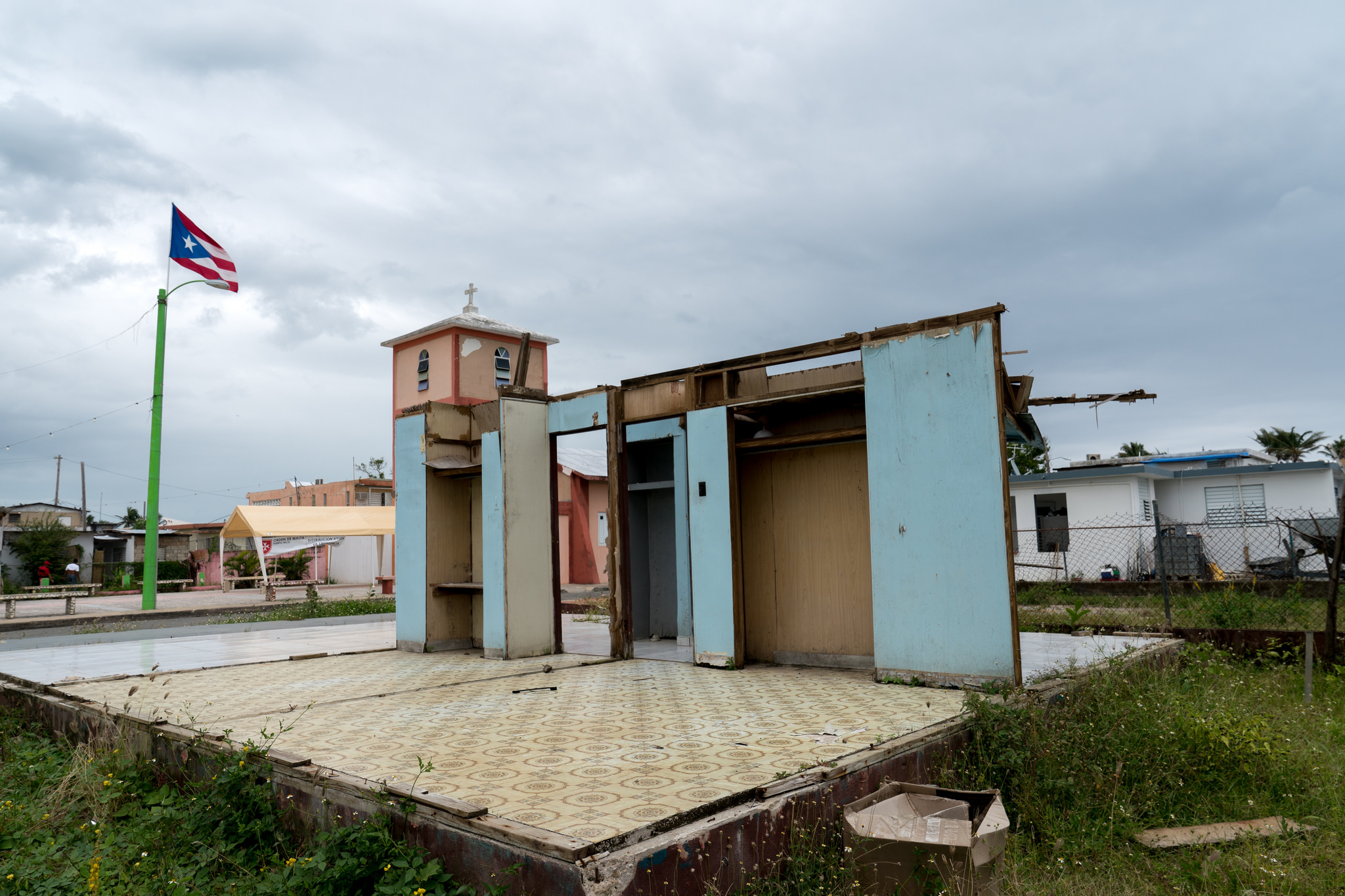 A home in Puerto Rico destroyed by Hurricane Maria.