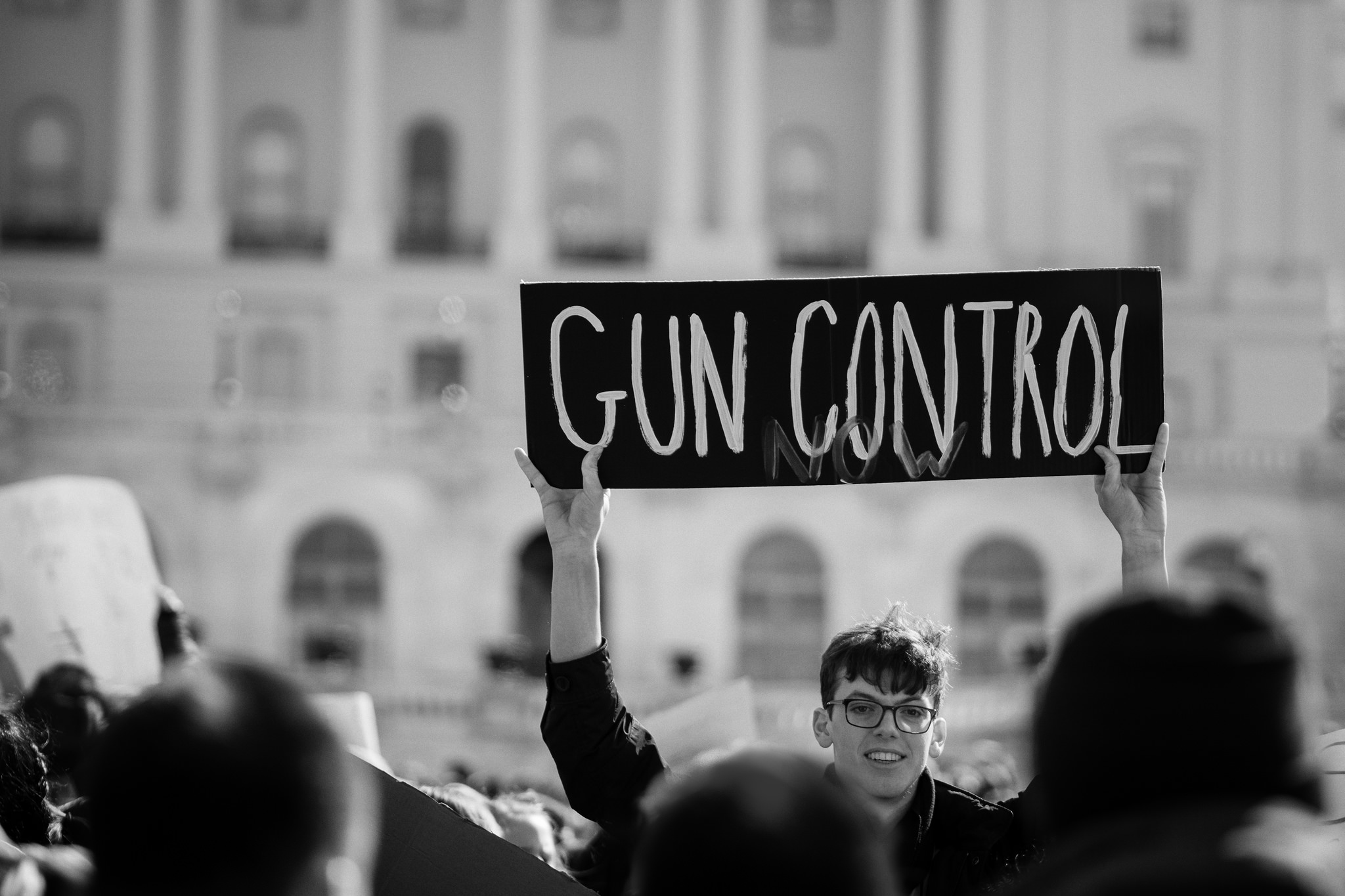 Gun Control Now, a student participating in National Walkout Day at the Capitol