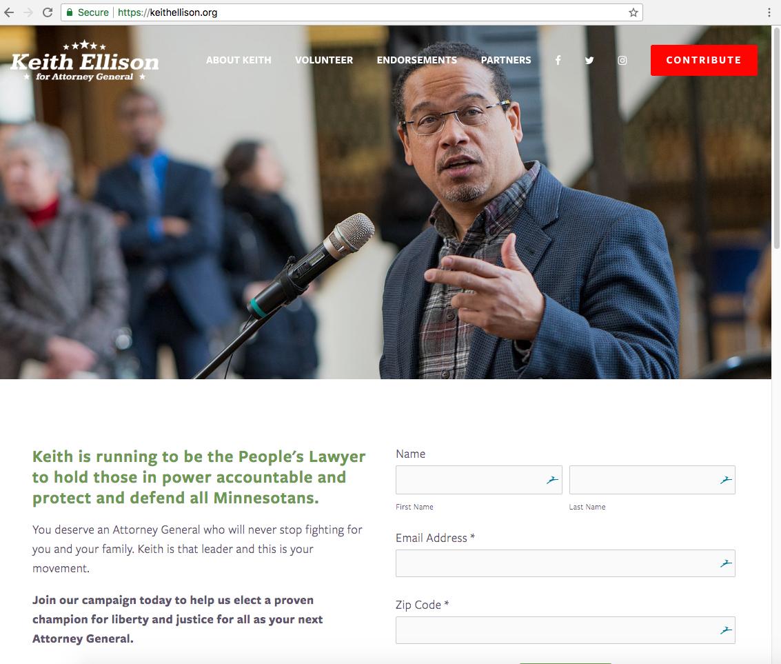 Keith Ellison's website