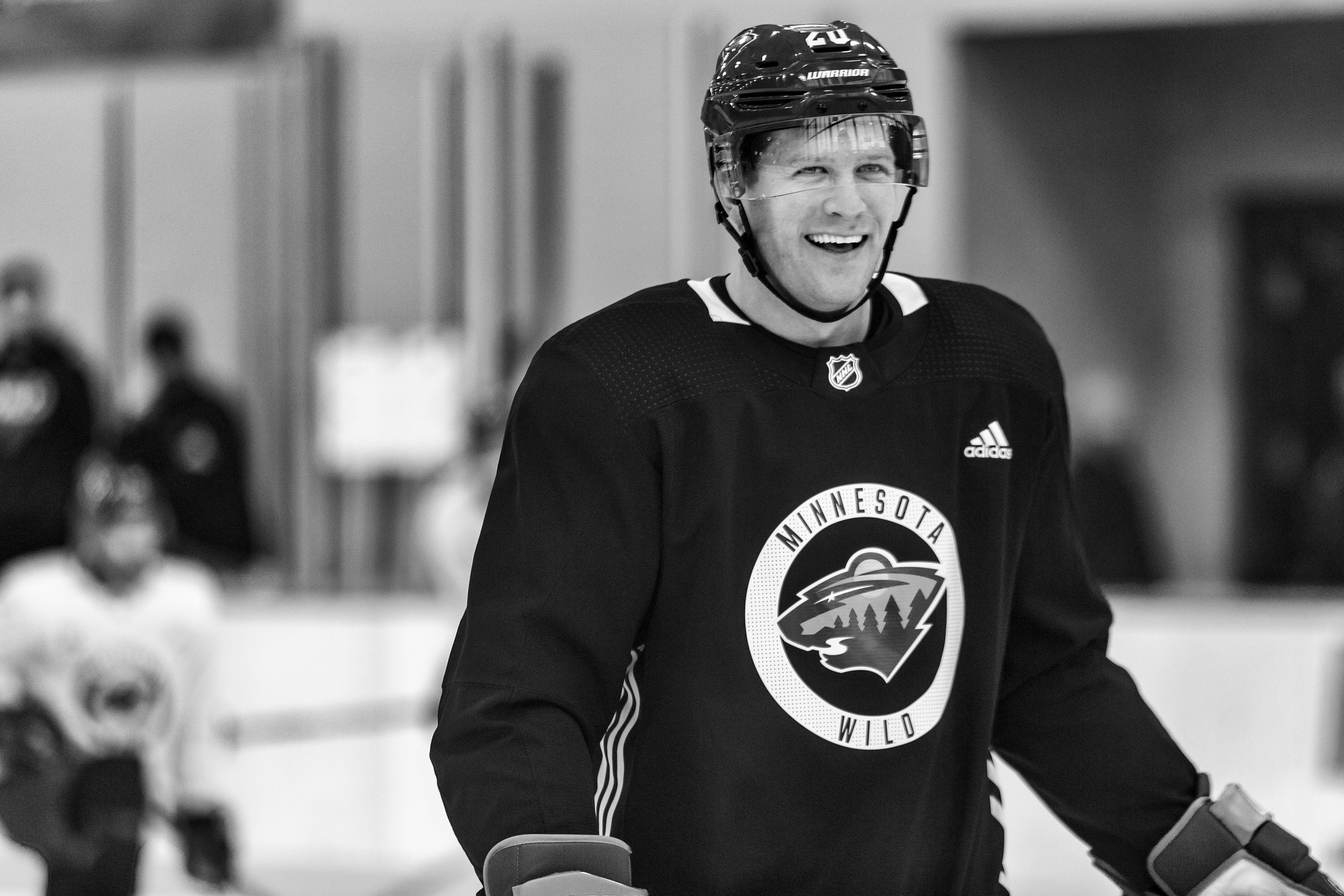 Ryan Suter at Minnesota Wild open practice at Tria Rink in St Paul, MN