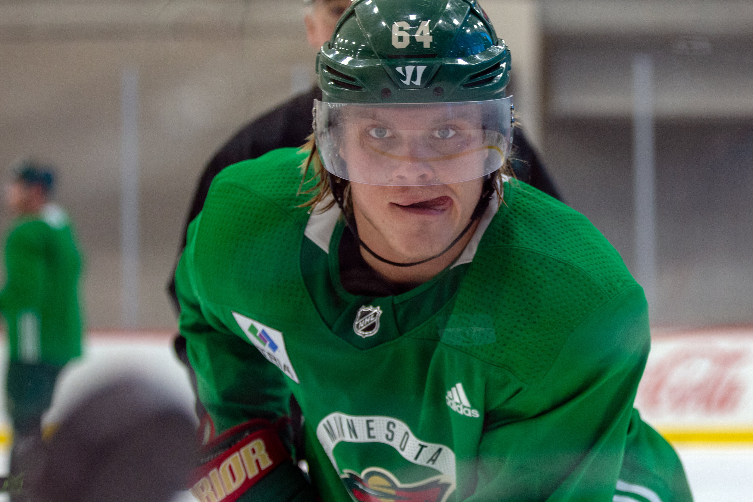 Mikael Granlund at Minnesota Wild open practice at Tria Rink in St Paul, MN