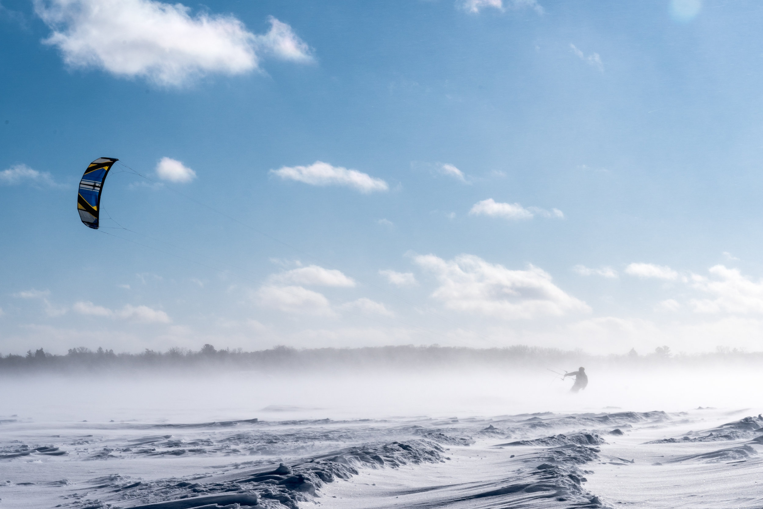 Snowkiting in Wayzata, Minnesota