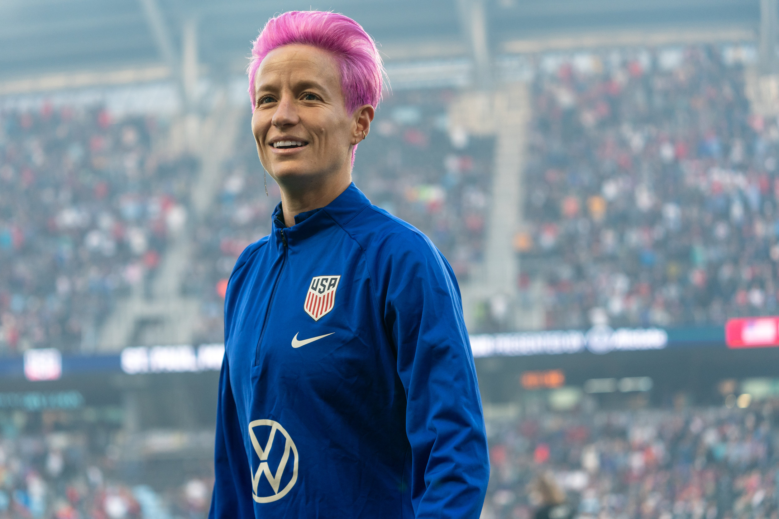 Megan Rapinoe at the US Women's National Team's Victory Tour in St Paul, Minnesota