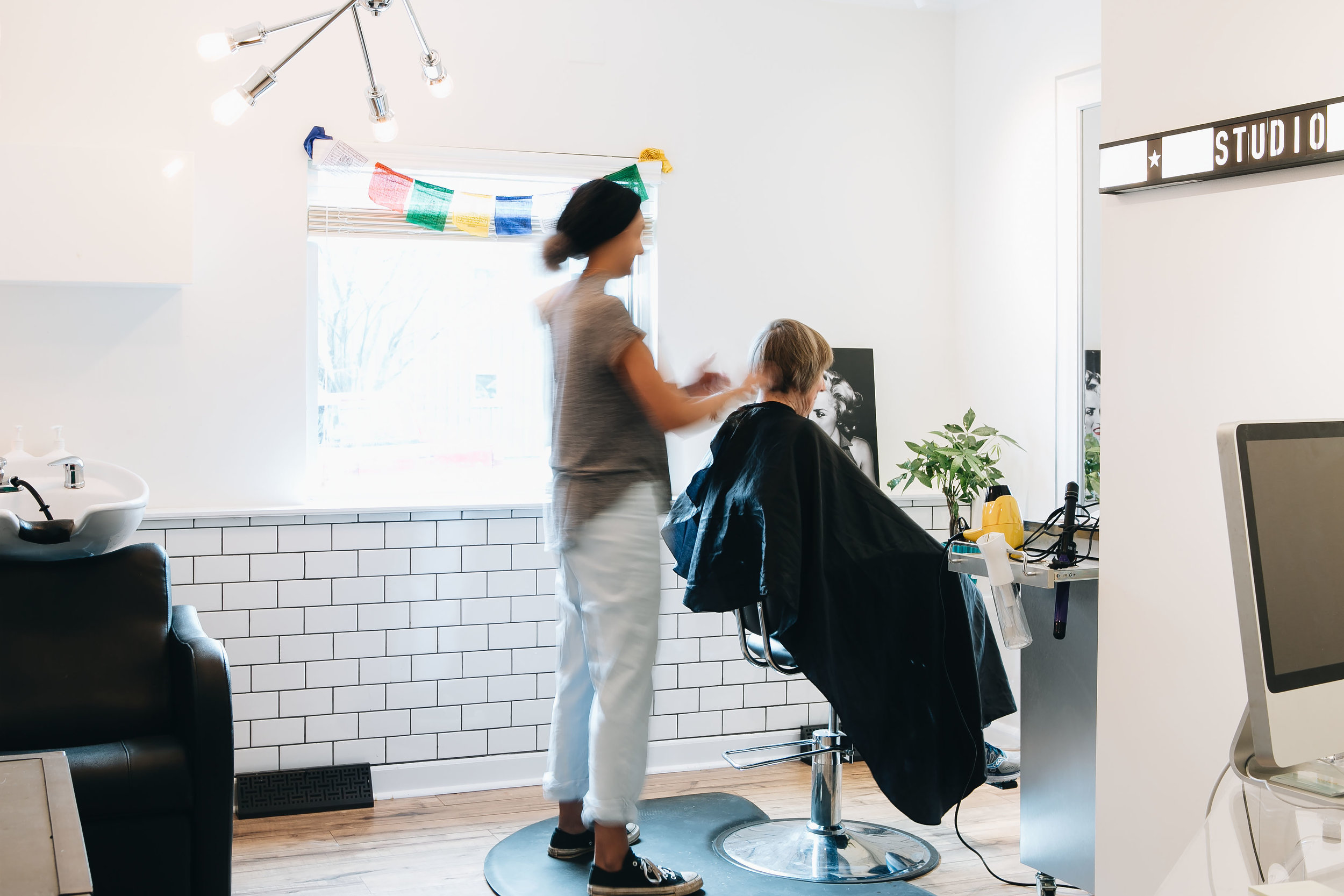 The hair hustle is real with leah of studio 36