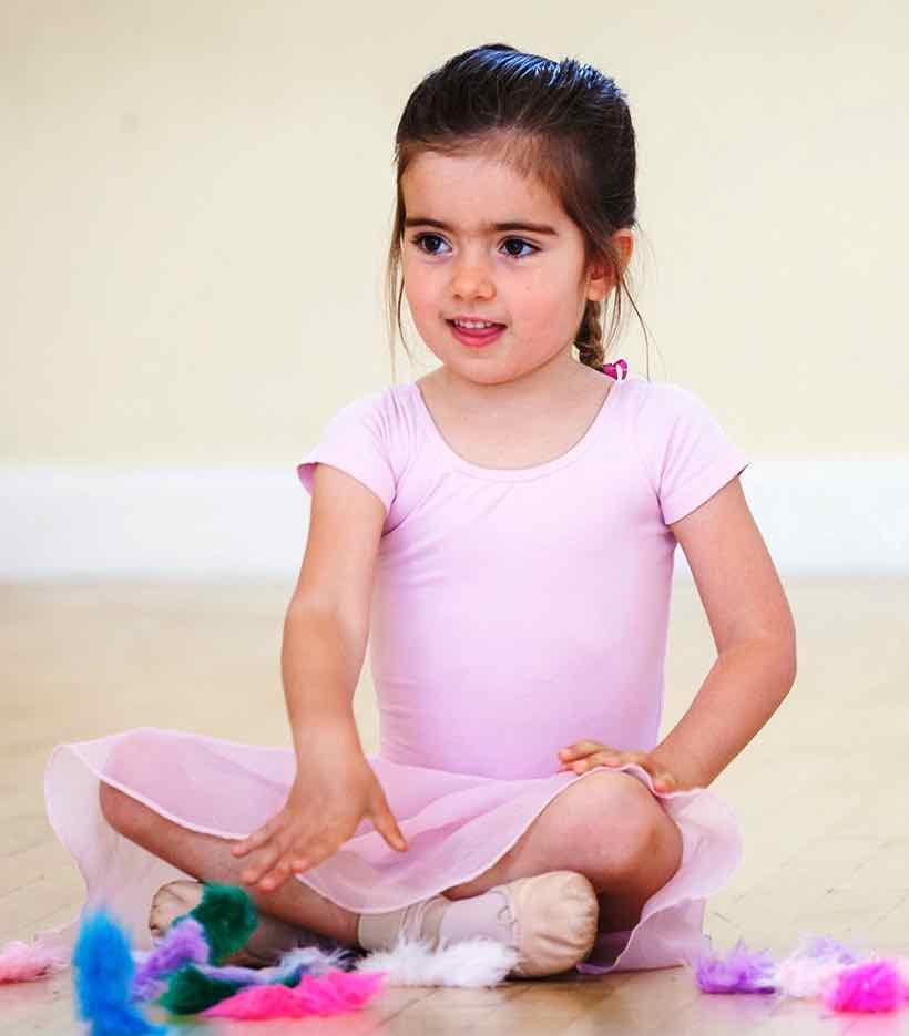 Girl Sitting in Ballet Class