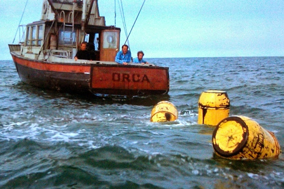 Jaws (1975) - Directed by: Steven SpielbergWritten by: Peter Benchley & Carl Gottlieb