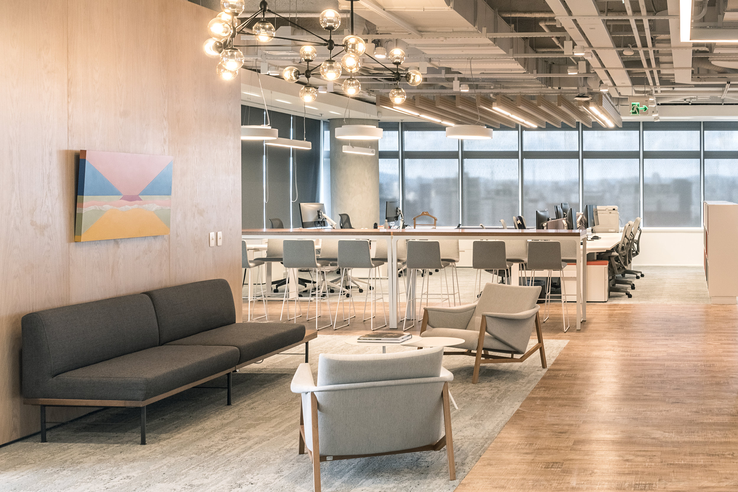 Área colaborativa do Banco ING.