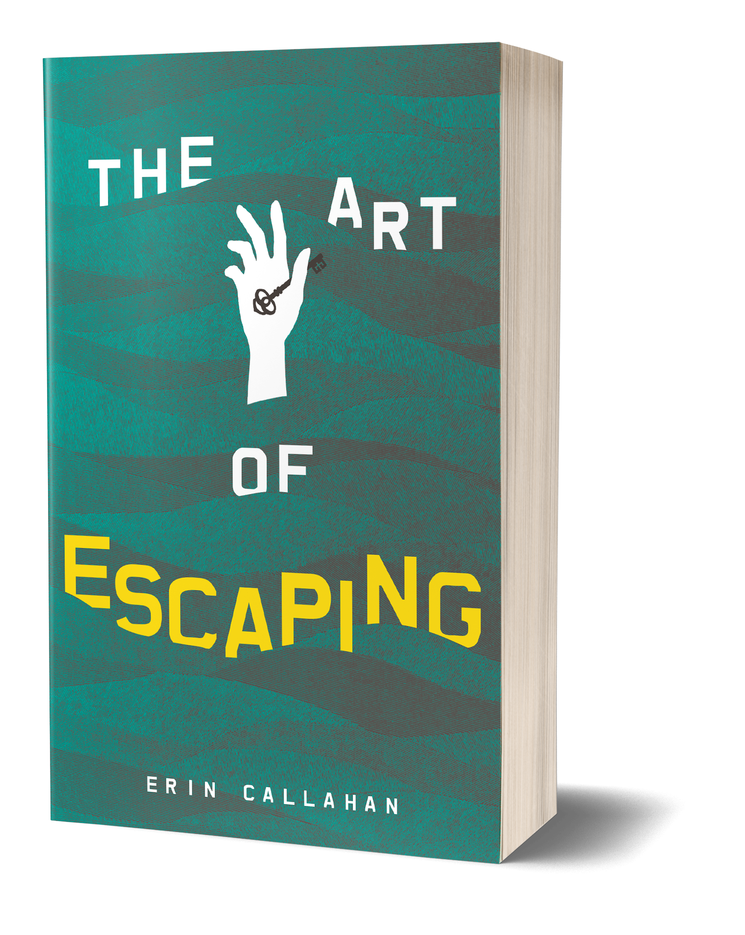 The Art of Escaping Book cover, hand coming up from the water, holding a key