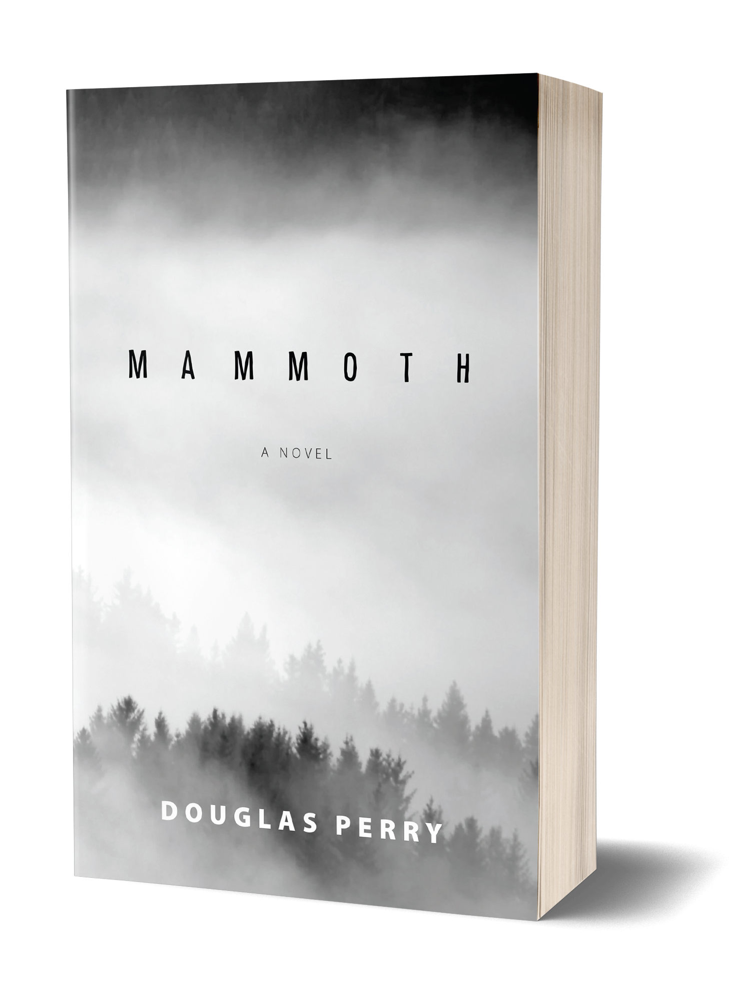 Mammoth book cover, trees shrouded in mist and fog