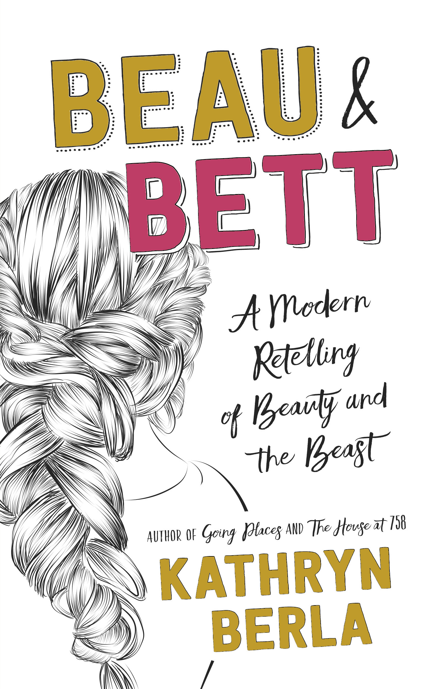 Beau & Bett book cover, drawing of back of girl's head, intricately braided hair