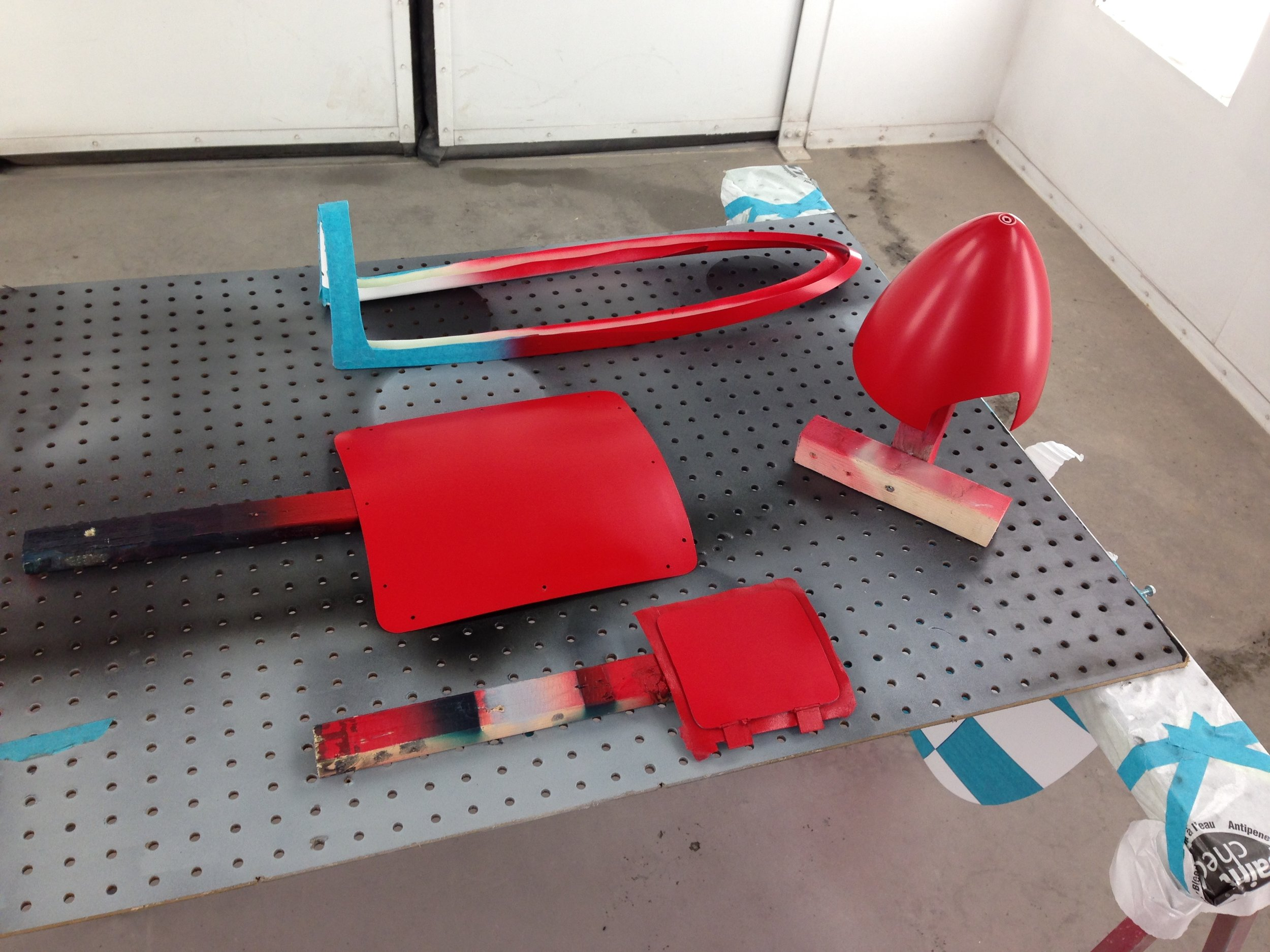 RC Remote Control Plane 1/4 Scale Custom Paint Red Plane
