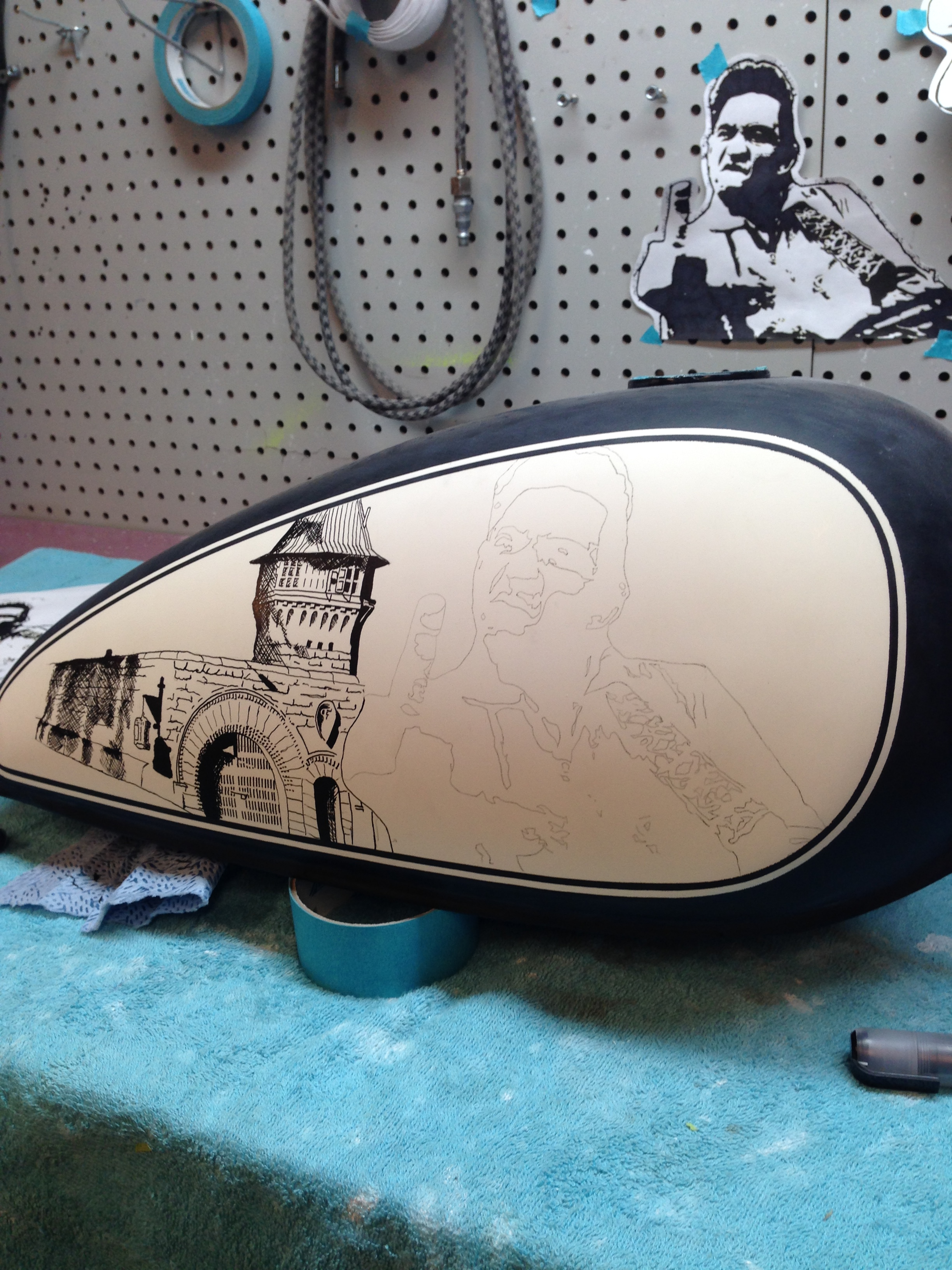 custom jonny cash johnny cash tank from Sketchs Ink paint shop Ottawa