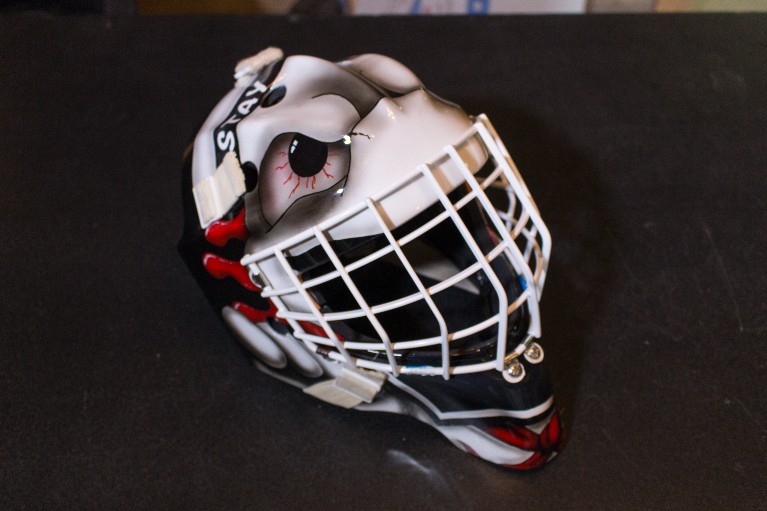 Replicating Cam Talbot's Ghostbusters Theme Goalie Mask at Sketchs Ink Ottawa Ontario