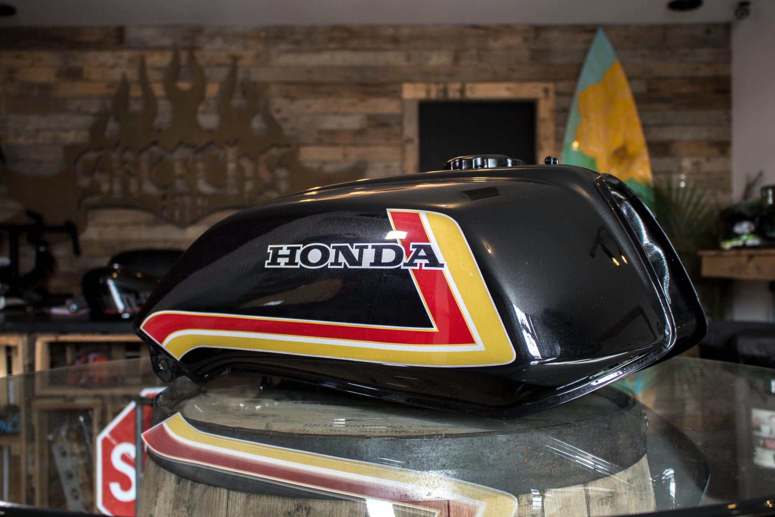Paint ShopRestoring The D.B. Customs Honda CB985F Sketchs Ink Ottawa Ontario Canada