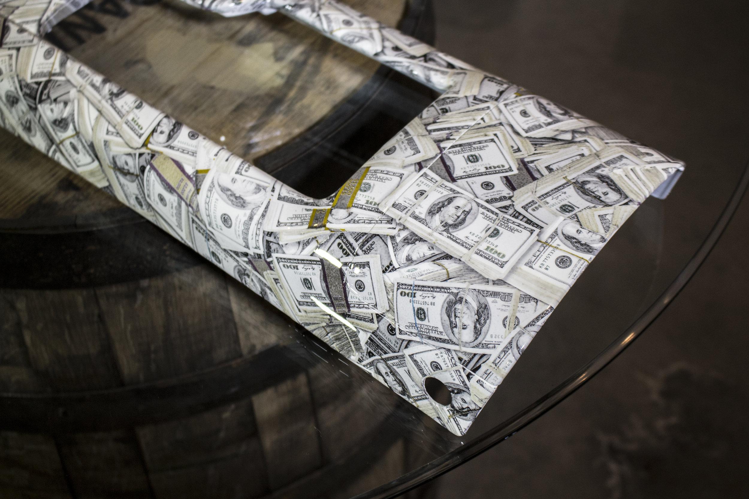 Cash-Print on mazda Miata Interior Trim