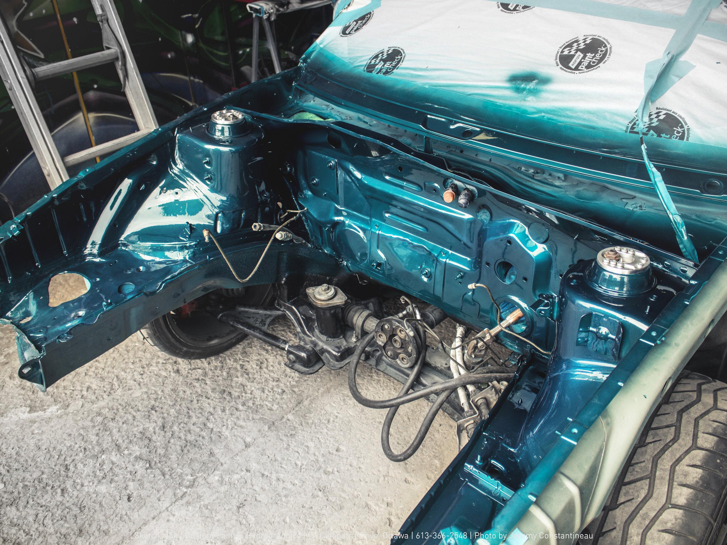 VW corrado engine bay turbo ottawa sketchs ink