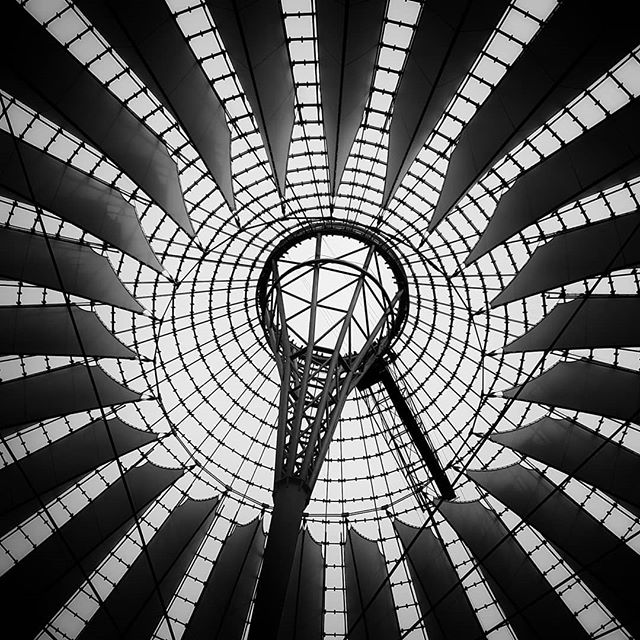 Something a little different.  The Sony Centre in Berlin is a truly amazing piece of architecture.  I couldn't help but try photograph it!  Architecture photography is stepping way out of my comfort zone, but I love a challenge 📸 . . . . . #travelphotography #travel #architecture #experiment #trysomethingnew #germany #berlin #streetphotography #street #citybreak #explore #exploring #lookup