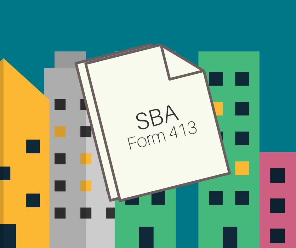 SBA 7a Loans SBA Form 413